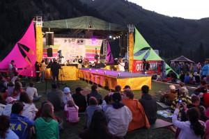 Сцена фестиваля форэ